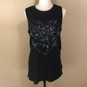 Black express muscle tee